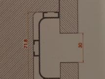 Профиль для фасадов без ручек