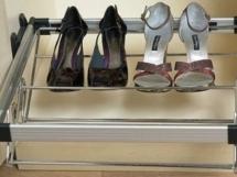 Выдвижная полка для обуви плавного закрывания
